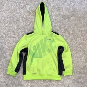 Nike Boys Thermal Fit Neon Hoodie Pullover